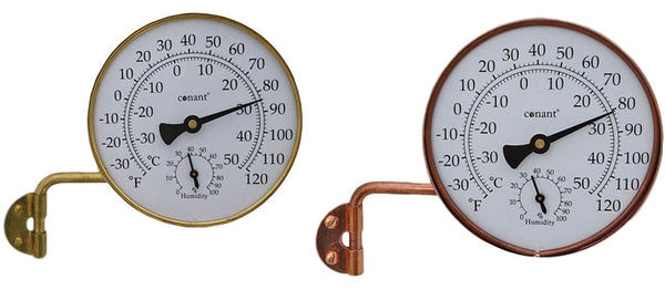 Conant Vermont Dial Weather Station (Brass & Copper) - YourGardenStop