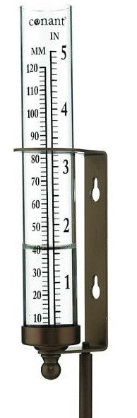 "6.5"" Rain Gauges in Bronze Patina Finish or Satin Nickel Finish - YourGardenStop"