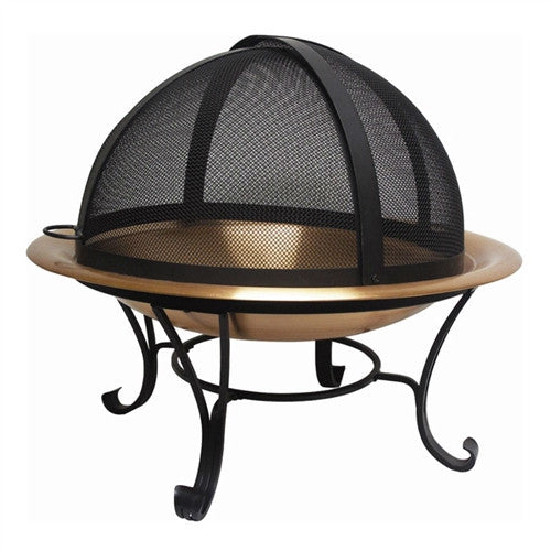 Classic 30 inch Copper Fire Pit with Dome Screen - YourGardenStop