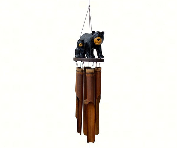 Black Bear Family Chime - YourGardenStop