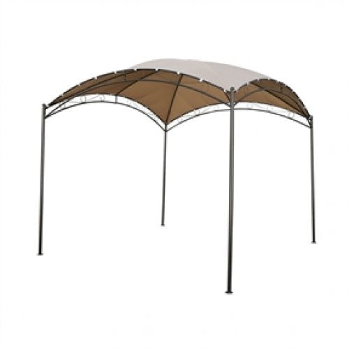10Ft x 10Ft Dome Top Gazebo with Khaki Canopy - YourGardenStop