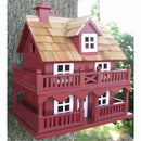 Red Wood Birdhouse Made of Kiln Dried Hardwood - YourGardenStop
