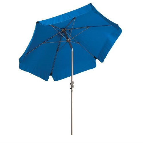 Pacific Blue 7.5-Ft Patio Umbrella with Push Button Tilt & Metal Pole