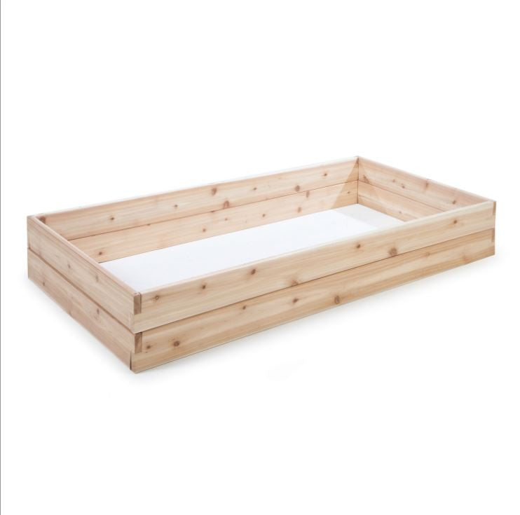 Cedar Wood 6 Ft x 3 Ft Raised Garden Bed Planter Box Frame Made in USA - YourGardenStop
