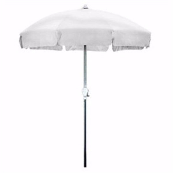 7.5 Foot Patio Umbrella with Push Button Tilt in White Olefin - YourGardenStop