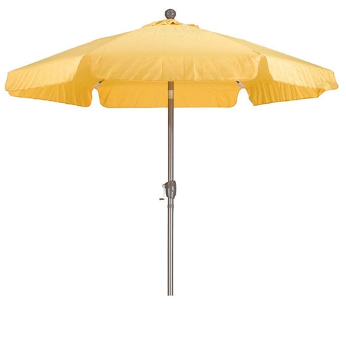 Yellow 7.5-Ft Outdoor Patio Umbrella w/Push Button Tilt & Aluminum Pole