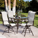 5-Piece Patio Furniture Dining Set with Bar Height Seat - YourGardenStop