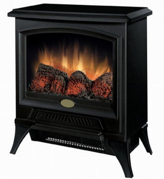 Compact Stove Style Electric Fireplace Space Heater in Black - YourGardenStop