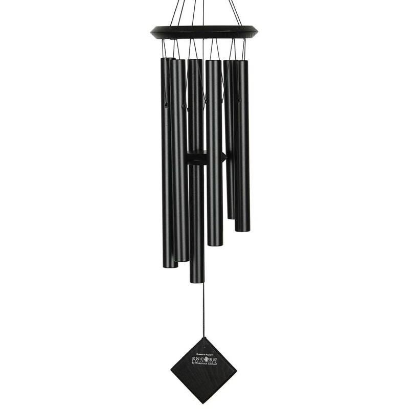 Woodstock Chimes the Planets Black/Black (Pluto & Earth) - YourGardenStop