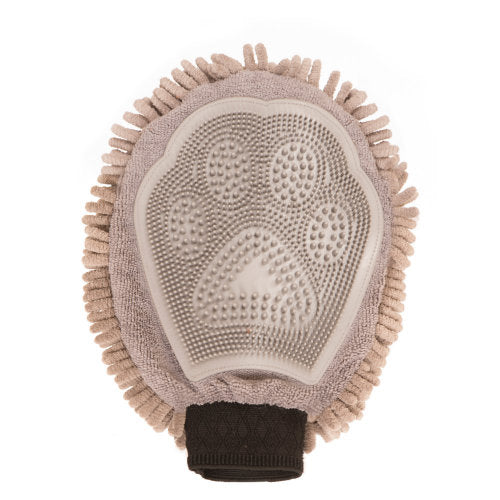 Dirty Dog Grooming Mitt in Grey or Brown - YourGardenStop