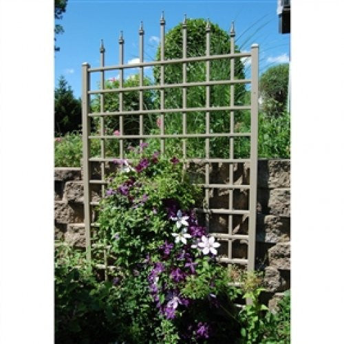 8 Ft Vinyl Trellis in Mocha Brown - YourGardenStop