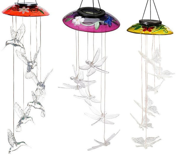 Glass Topper Solar Mobiles (Butterfly, Dragonfly or Hummingbird)