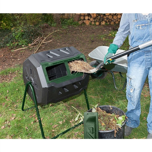 Outdoor 43-Gallon Compost Bin Tumbler for Home Garden Composting - YourGardenStop