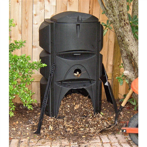 Heavy Duty 16.4 cubic ft. Soil-maker Compost Bin with 3 Chamber Composter Design - YourGardenStop
