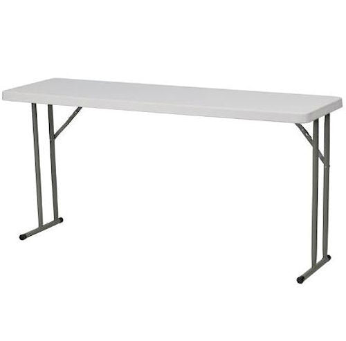White Top Commercial Grade 60-inch Folding Table - YourGardenStop