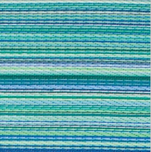 4' x 6' Indoor / Outdoor Area Rug with Turquoise Blue Green Stripes