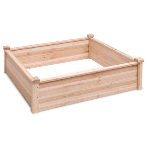 Solid Fir Wood 3.3 ft x 3.3 ft Raised Garden Bed Planter Box - YourGardenStop