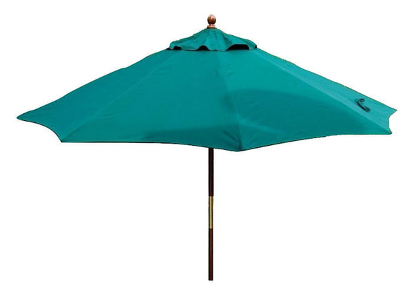 9-Ft Patio Umbrella with Forest Green Sunbrella Canopy