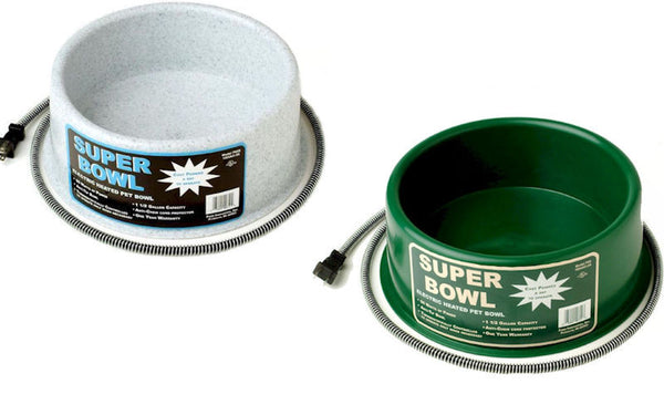 Round 1.5 Gallon Heated Pet Bowl 60 Watt (Green or Grey) - YourGardenStop