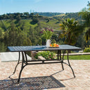 Cast Aluminum 40 x 70 inch Outdoor Dining Table in Bronze - YourGardenStop