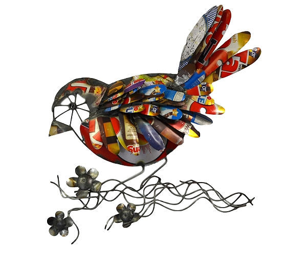 Recycled Metal Bird Wall Decor - YourGardenStop