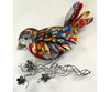Recycled Metal Bird Wall Decor