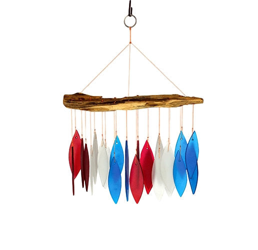 Red, White, & Blue Driftwood Chime - YourGardenStop