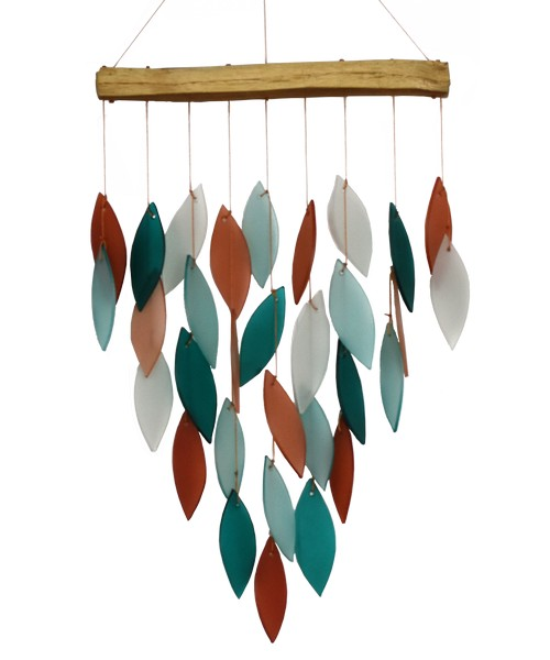 Coral & Teal Waterfall Chime & Coral & Teal  Waterfall Chime Deluxe - YourGardenStop