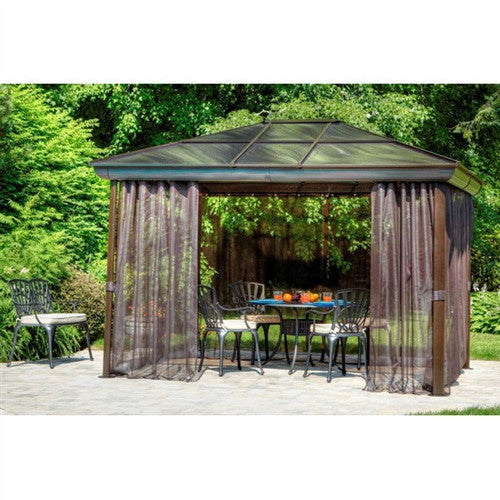 12' x 16' Year-Round Gazebo with UV Blocking Panels Canopy & Curtains - YourGardenStop