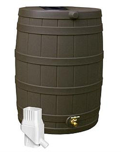 50 Gallon Rain Barrel in UV Resistant Resin with Diverter Kit - YourGardenStop