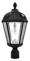 "Gama Sonic Royal Solar Light w/GS Solar Bulb-3"" Fitter (2 colors) - YourGardenStop"