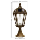 Gama Sonic Royal Solar Light w/GS Solar Bulb-Post Mount- Bronze - YourGardenStop