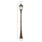 Gama Sonic Royal Solar Lamp Post w/GS Solar Bulb-Single (2 colors) - YourGardenStop