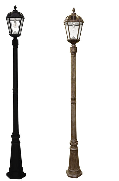 Gama Sonic Royal Solar Lamp Post w/GS Solar Bulb-Single (2 colors)
