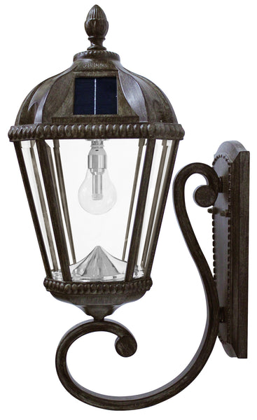 Gama Sonic Royal Solar Light w/GS Solar Bulb-Wall Mount- Bronze - YourGardenStop