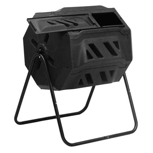 Outdoor Garden 5.7 Cubic Ft Rotating Composting Bin Tumbler