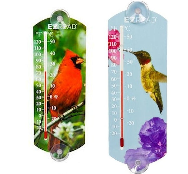 Window Thermometers (Cardinal or Hummingbird) - YourGardenStop