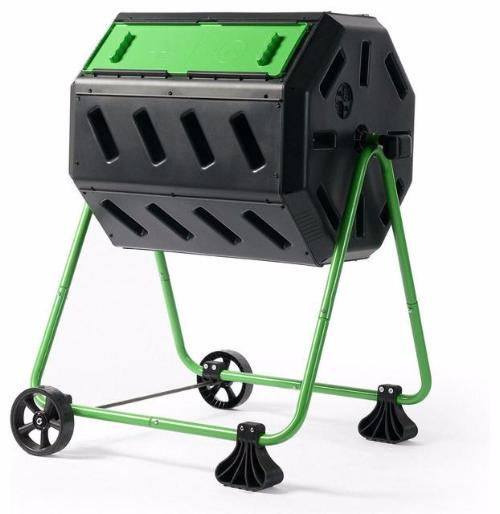 Tumbler 5 Cubic Ft Compost Bin for Home Composting with Heavy Duty Frame - YourGardenStop