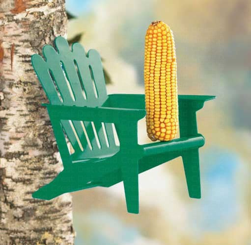 Green Adirondack Chair Squirrel Feeder by Hiatt - YourGardenStop