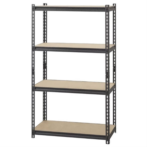 Heavy Duty 4-Shelf Black Storage Rack Shelving Unit - YourGardenStop