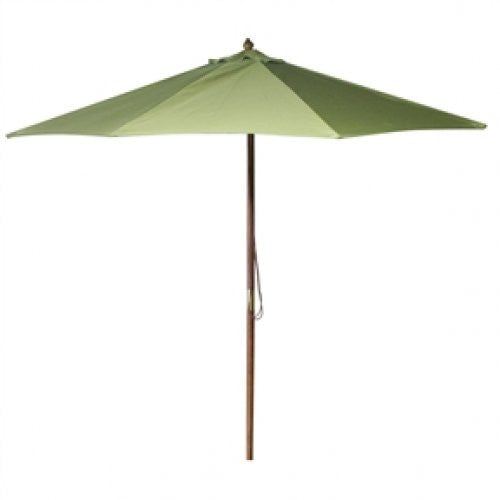 9-Foot Patio / Market Umbrella with Olive Green Canopy - YourGardenStop