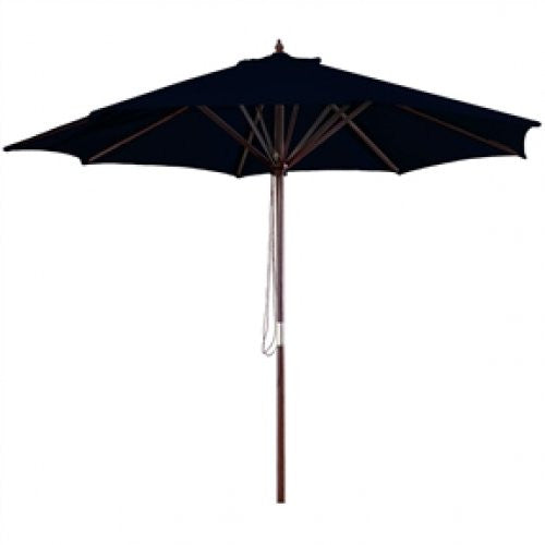 9-FT Market / Patio Umbrella with Black Canopy - YourGardenStop