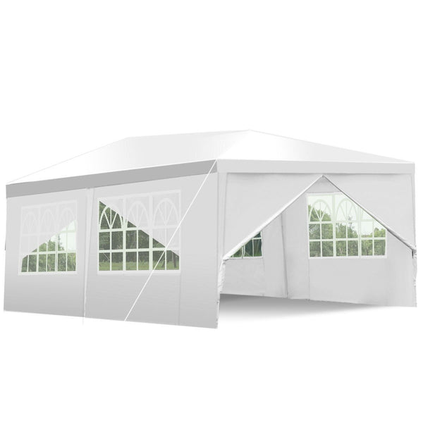10ft x 10ft Heavy Duty Party Wedding Canopy Tent Gazebo White - YourGardenStop