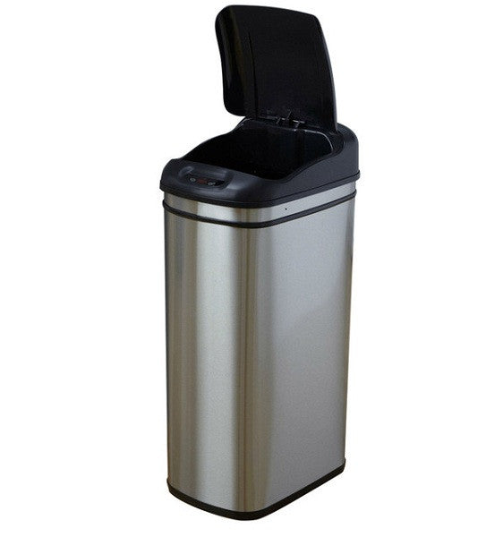 11.1 Gallon Infrared Touchless Automatic Motion Sensor Lid Trash Can - YourGardenStop