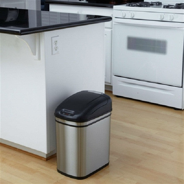 6.3G Kitchen Infrared Touchless Automatic Motion Sensor Lid Open Trash Can - YourGardenStop