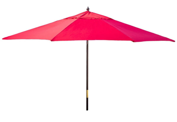 Outdoor Patio 11-Ft Market Umbrella with Red Shade Canopy - YourGardenStop