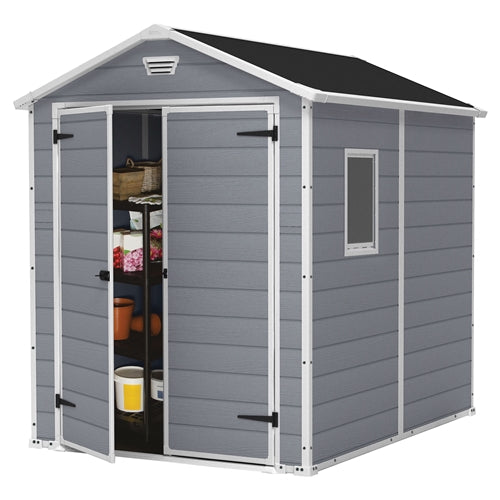 6-ft x 8-ft Storage Shed in Steel Reinforced Polypropylene - YourGardenStop