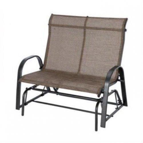 Outdoor High Back Loveseat Glider Chair Patio Garden Bench with Sling Seats - YourGardenStop