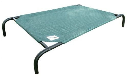 Large Elevated Indoor/Outdoor Dog Cot in Brunswick Green - YourGardenStop