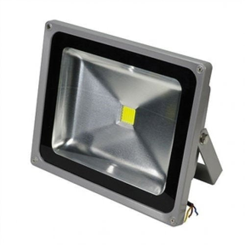 Motion Sensor Outdoor 3-Light High Performance LED Floodlight in White - YourGardenStop